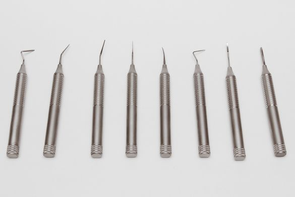Flexible periotomes for tooth extraction - set of 8 pieces
