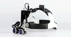 Helmet Karl Richter binoculars with dual lens lighting